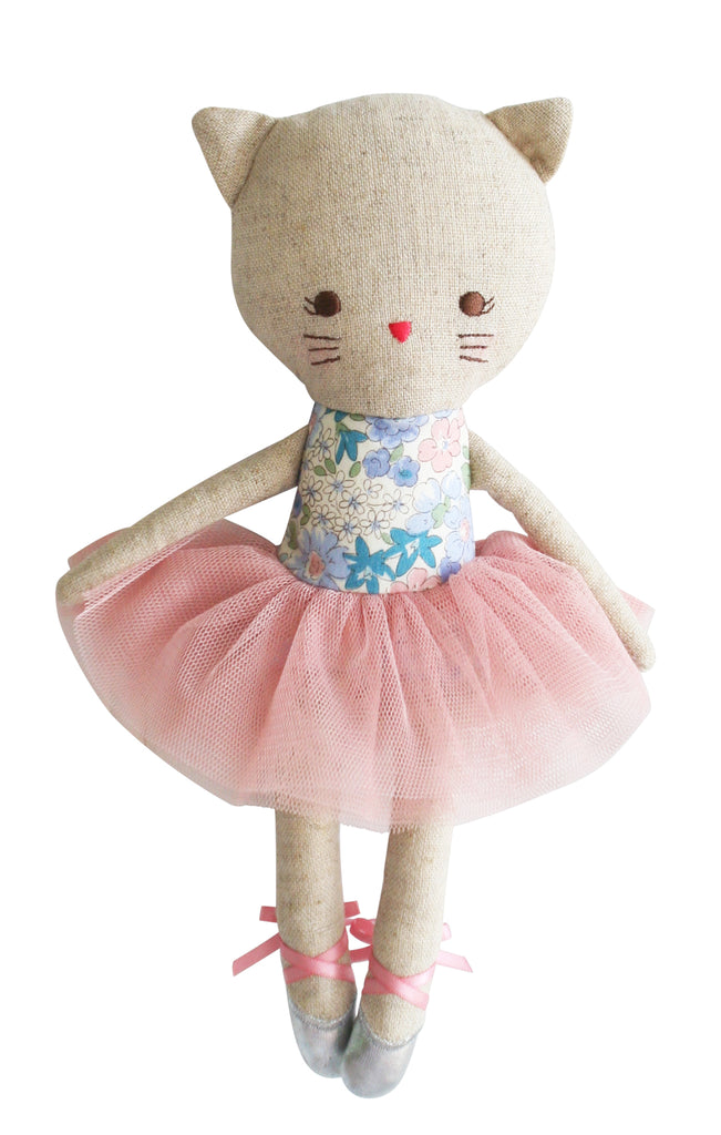 Alimrose Odette Kitty Ballerina Doll - Liberty Blue