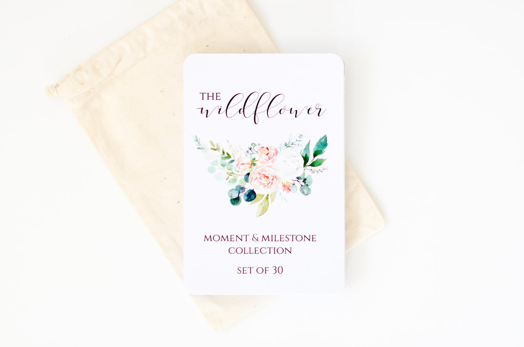 Room to Bloom Baby Milestone Cards - Wildflower Collection