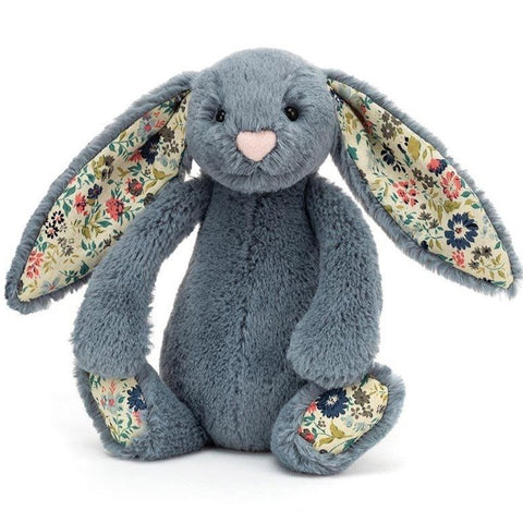 Jellycat London Bashful Bunny - Blossom Dusky Blue Small