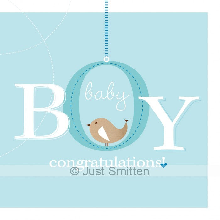 Bundle of Joy - Boy mini gift card by Just Smitten