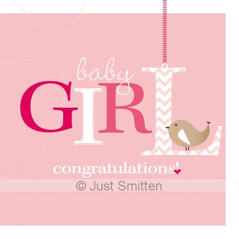 Bundle of Joy - Girl mini gift card by Just Smitten