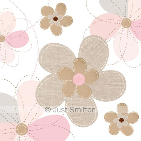 Faux Flowers mini gift card by Just Smitten