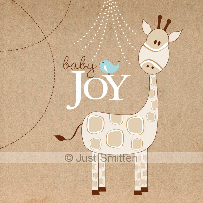 Kraft Giraffe - Neutral mini gift card by Just Smitten