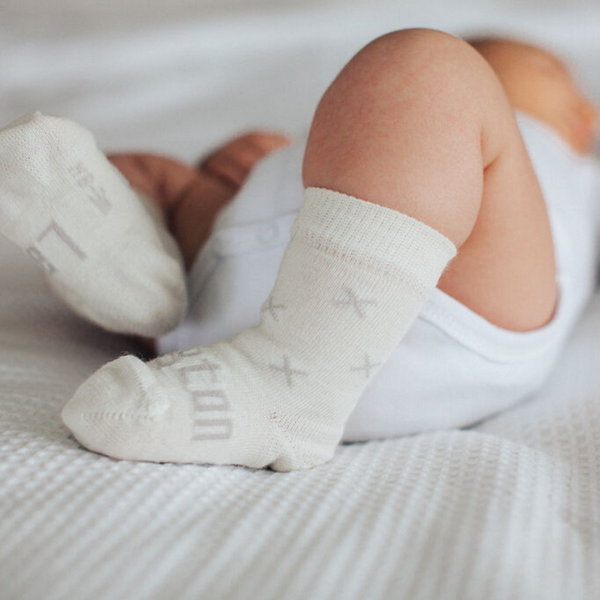 Lamington Newborn Naturals Merino Crew Socks - Fox