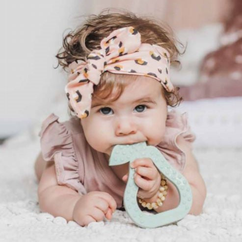 My Little Giggles Pear Teether Sage