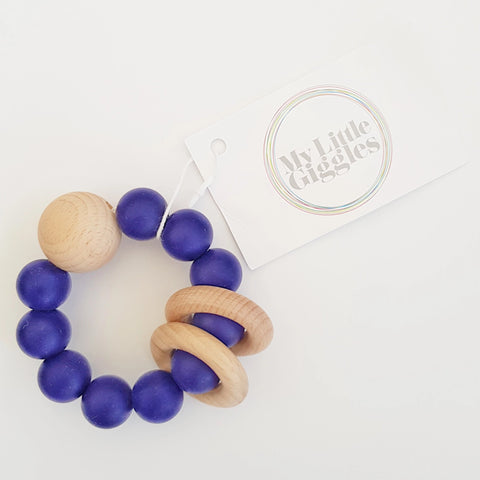 My Little Giggles Ring Teether Navy
