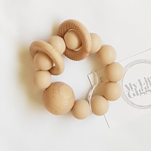 My Little Giggles Ring Teether Oatmeal