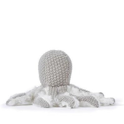 Nana Huchy Ollie Octopus Rattle Grey back