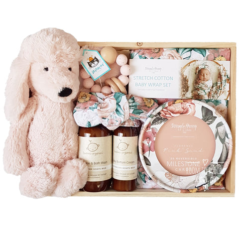 Room to Bloom Bella Baby Gift - Wooden Box Hamper