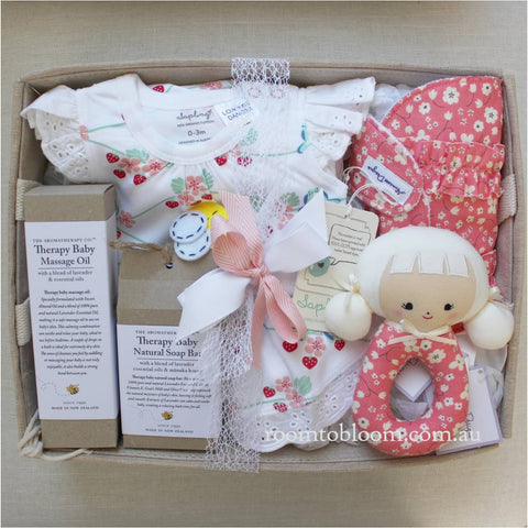 Room to Bloom Berry Blossom Baby Gift Hamper