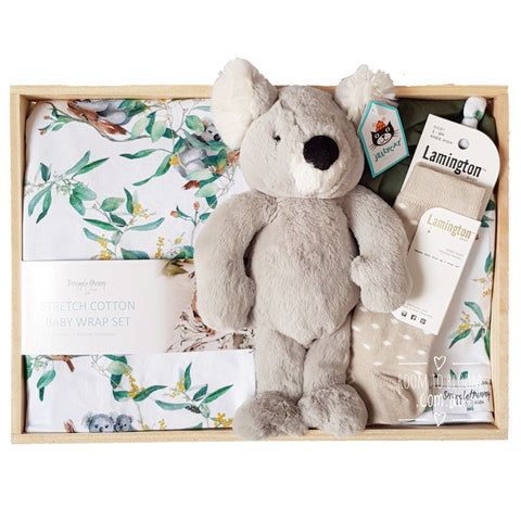 Room to Bloom Bindi Baby Gift - Wooden Box Hamper