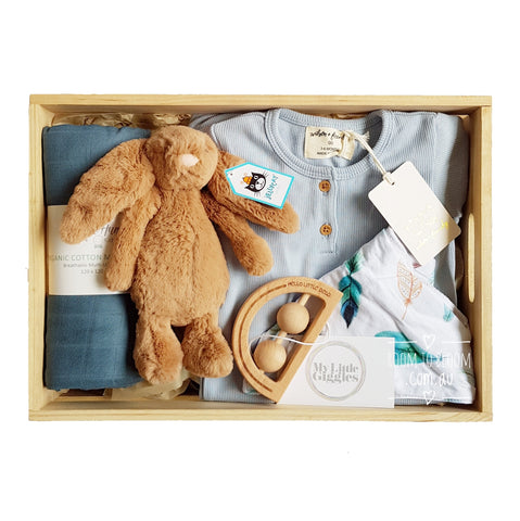 Room to Bloom Dreamweaver Baby Gift - Wooden Box Hamper