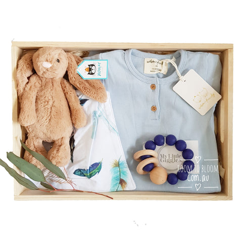 Room to Bloom Feathers In Flight Baby Gift Box Hamper
