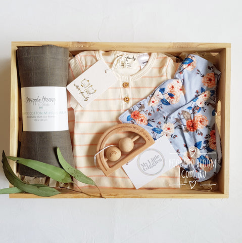 Room to Bloom Flora and Fauna Baby Gift Box Hamper