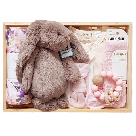Room to Bloom Hope Baby Gift - Wooden Box Hamper
