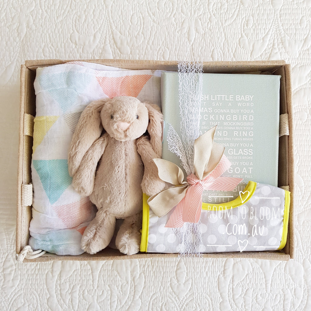 Room to Bloom Hush Little Bunny Baby Gift Hamper