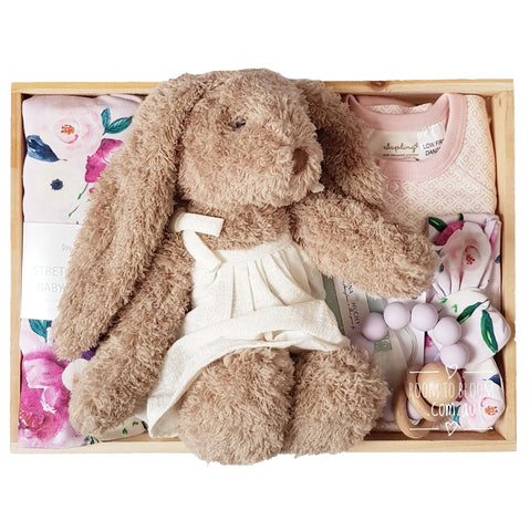 Room to Bloom Lily Baby Gift - Wooden Box Hamper