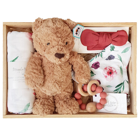 Room to Bloom Missy Baby Gift - Wooden Box Hamper