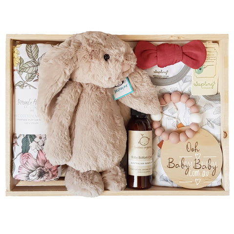 Room to Bloom Ooh La La Baby Gift - Wooden Box Hamper