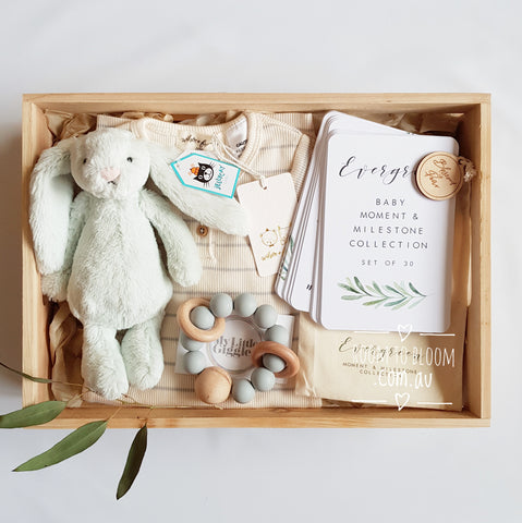 Room to Bloom Peppermint Sweet Baby Gift Box Hamper