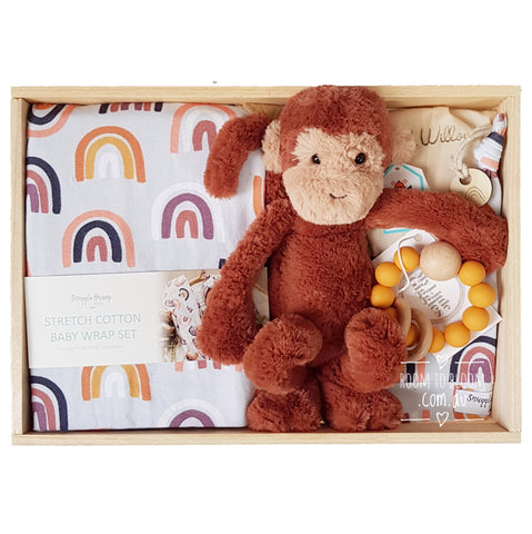 Room to Bloom Play Jim Baby Gift - Wooden Box Hamper
