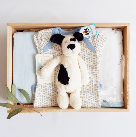 Room to Bloom Puppy Power Baby Gift Box Hamper