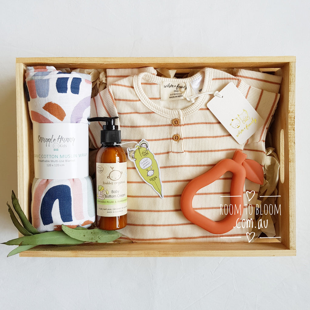 Room to Bloom Rainbow Connection Baby Gift Box Hamper