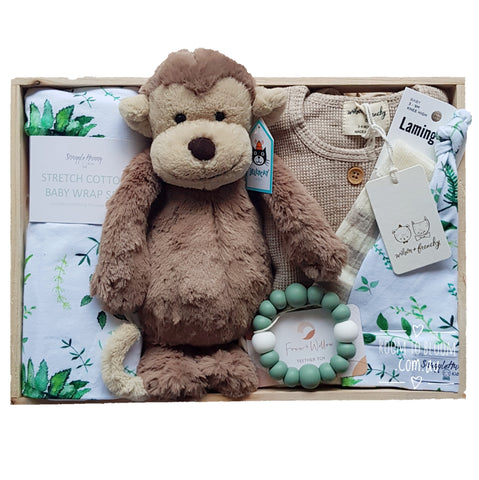 Room to Bloom Rio Baby Gift - Wooden Box Hamper