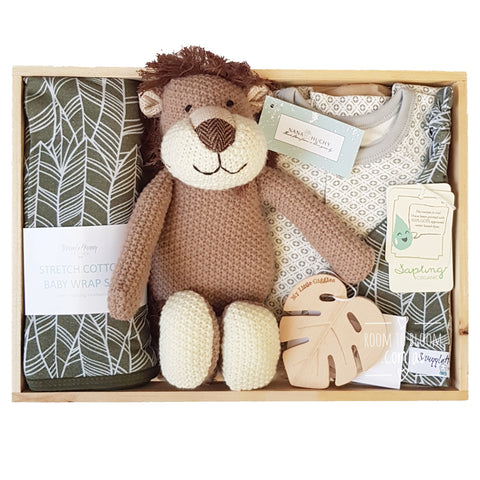 Room to Bloom Roar Talent Baby Gift - Wooden Box Hamper