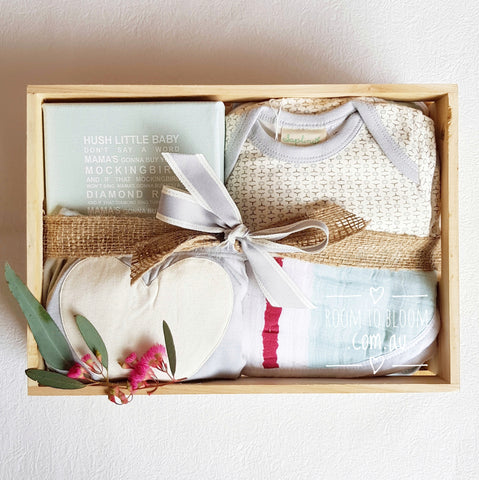 Room to Bloom Sea Mist Baby Gift Box Hamper