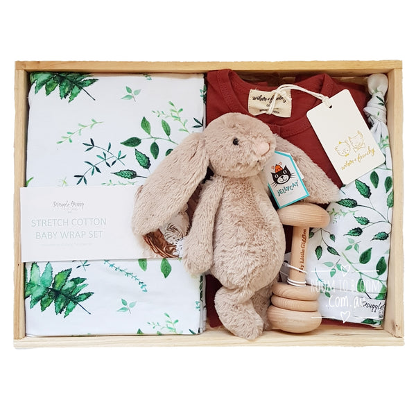 Room to Bloom Sherwood Baby Gift - Wooden Box Hamper