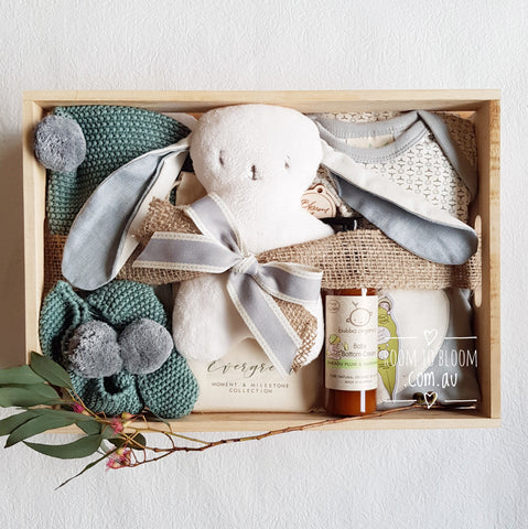 Room to Bloom Softly Sage Baby Gift Box Hamper