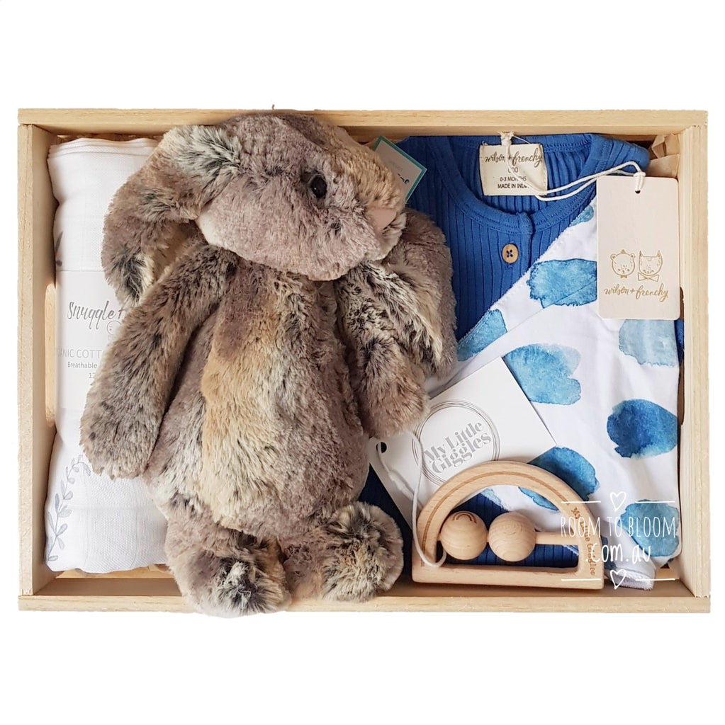 Room to Bloom Spot of Fun Baby Gift - Wooden Box Hamper
