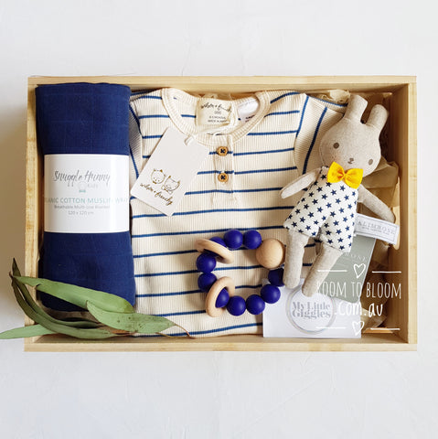 Room to Bloom Stars and Stripes Baby Gift Box Hamper
