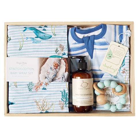 Under the Sea Baby Gift - Wooden Box Hamper