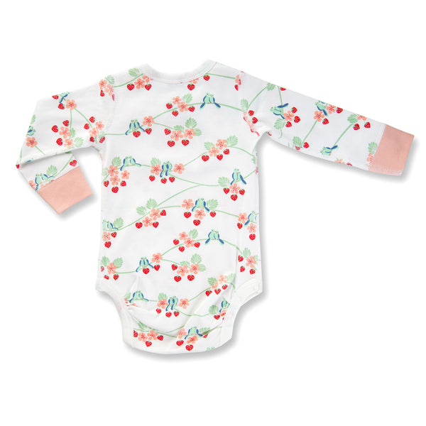 Sapling Flight Collection Long Sleeve Bodysuit - Bluebirds back