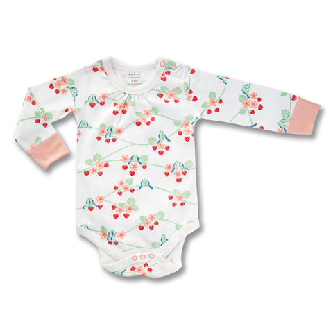 Sapling Flight Collection Long Sleeve Bodysuit - Bluebirds front 0ee088b6b
