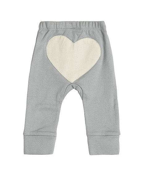 Sapling Dove Grey Heart Baby Pants Back