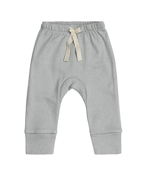 Sapling Dove Grey Heart Baby Pants Front