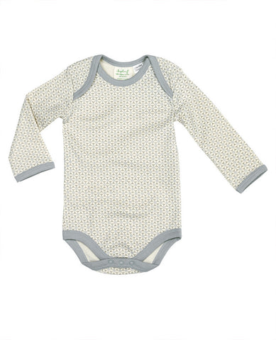 Sapling Dove Grey Long Sleeve Baby Bodysuit