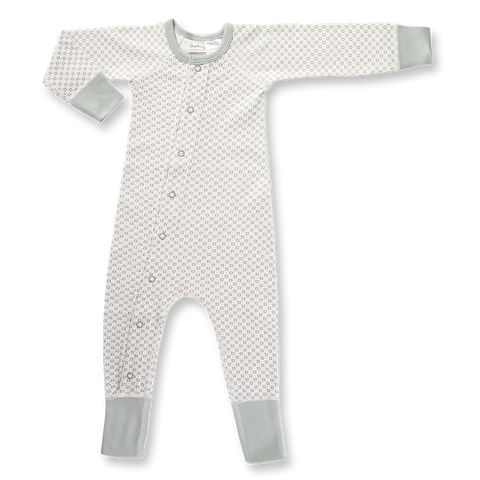 Sapling Organic Dove Grey Baby Romper front