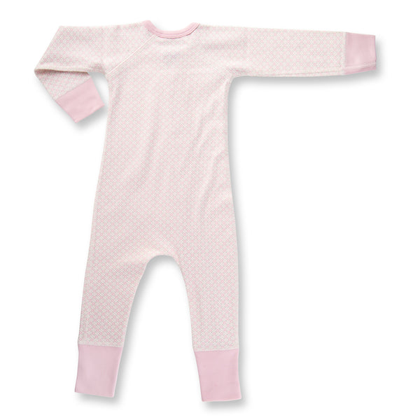 Dusty Pink Baby Romper back