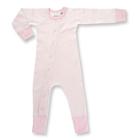 Dusty Pink Baby Romper front