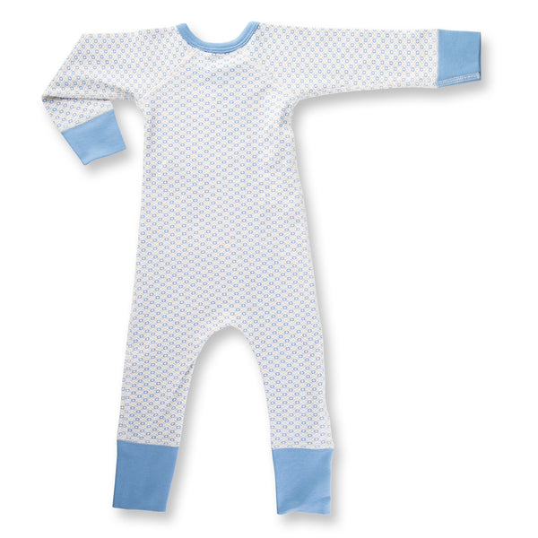 Little Boy Blue Baby Romper back