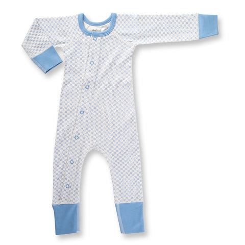 Little Boy Blue Baby Romper front