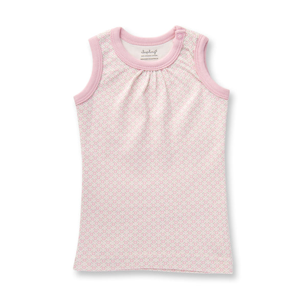 Sapling Dusty Pink Baby Tank front
