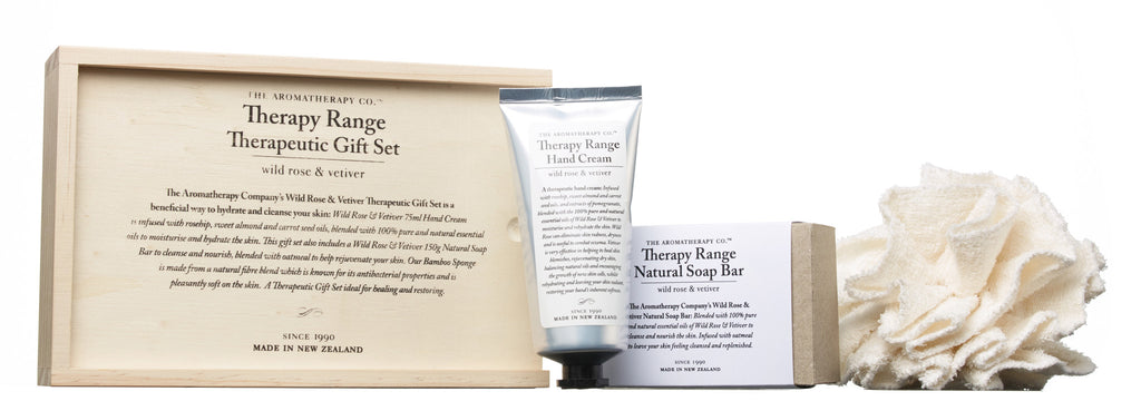 The Aromatherapy Company Therapy Range Therapeutic Gift Set - Wild Rose & Vetiver