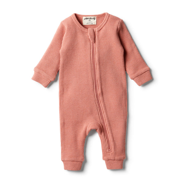 Wilson & Frenchy Clay Waffle Zipsuit front