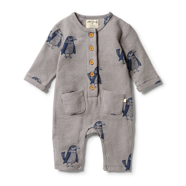 Wilson & Frenchy French Terry Slouch Growsuit - Mighty Eagle front