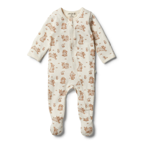 Wilson & Frenchy Organic Little Hop Zipsuit front